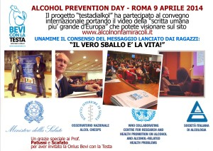 ALCOHOL PREVENTION MANIFESTO ROMA